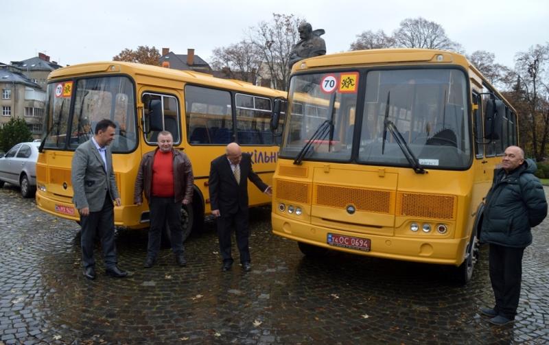 Шкільні автобуси в села Закарпаття