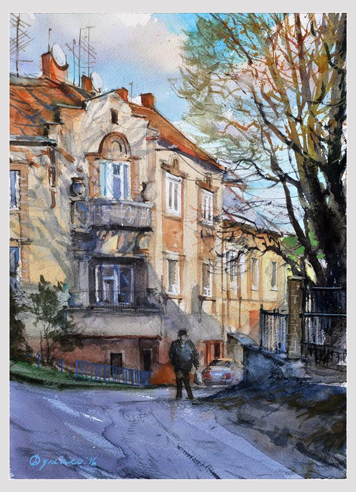 Свої «Акварельні сюжети Ужгорода» представив глядачам Ярослав Дуленко