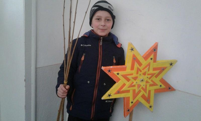 На Іршавщині колядника із зіркою знімали на ґаджети