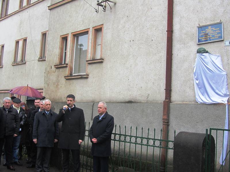 У Хусті урочисто відкрили меморіальну дошку Томашу Масарику. ФОТО
