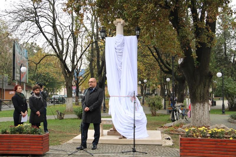 Скульптура відомій актрисі та співачці Шарі Федак прикрасила Берегово. ВІДЕО