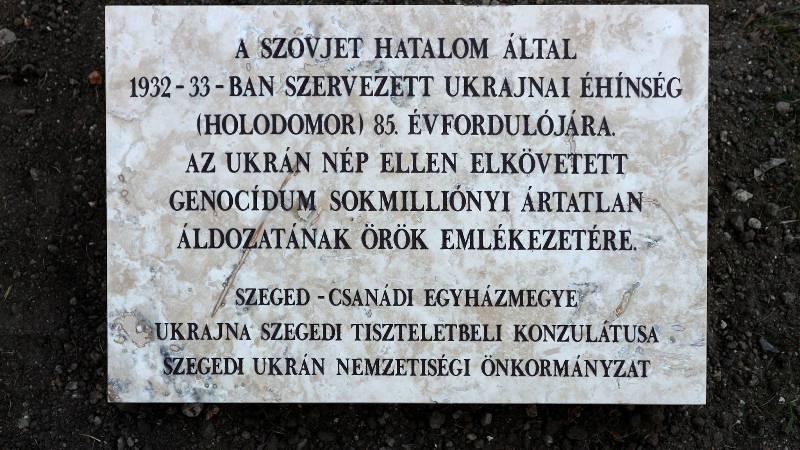 В угорському місті Сегед урочисто відкрили пам'ятник жертвам Голодомору в Україні 1932-33 років